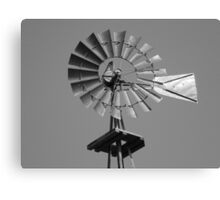 Windmill in black and white Canvas Print