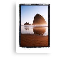 Haystack Rock, Canon Beach, Oregon Coast Canvas Print