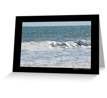 Atlantic Ocean Wave - Hampton Bays, New York Greeting Card