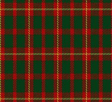 02220 Green Stirling Red, (Unidentified #42) Tartan Fabric Print Iphone Case by Detnecs2013