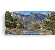 Road to TwinOwl Mountain Canvas Print