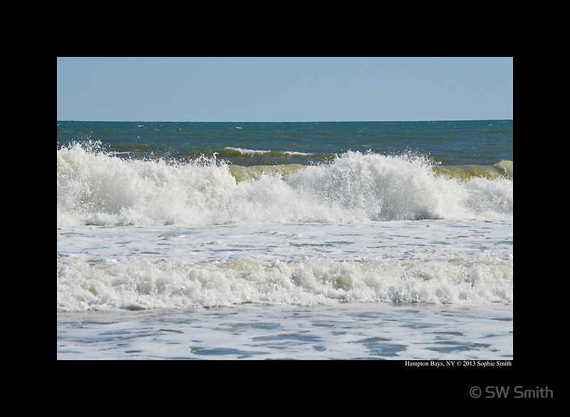 Afternoon Waves - Atlantic Ocean - Hampton Bays, New York by © Sophie W. Smith