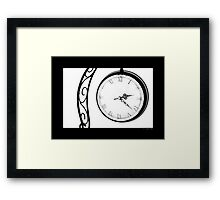 Vintage Wrought Iron Table Clock Framed Print