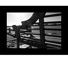 Wooden Bench Detail - Southampton, New York  Photographic Print