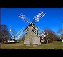 Historic Windmill - Water Mill, New York by © Sophie Smith