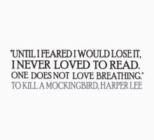 Reading Mockingbird by silentstead