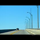 Driving Over Ponquogue Bridge - Hampton Bays, New York by © Sophie W. Smith