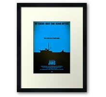 "Movie Poster - ""JAWS"" Framed Print"