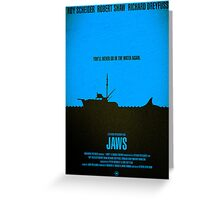 "Movie Poster - ""JAWS"" Greeting Card"