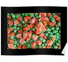 Frozen Vegetables - Peas And Carrots  Poster