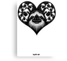 A Slothy Heart Canvas Print