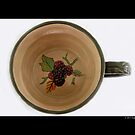 Vintage Ceramic Teacup With Flower Pattern by © Sophie W. Smith