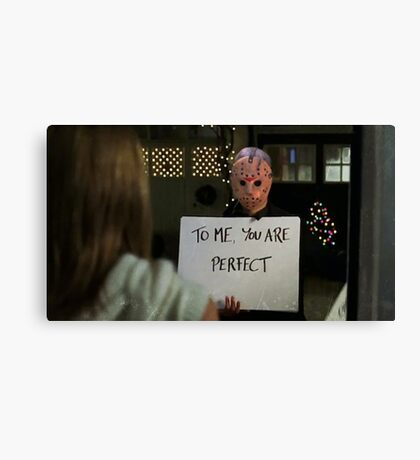 Jason Vorhees in Love Actually Canvas Print
