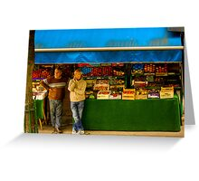 A Grocers' conversation in Paris Greeting Card