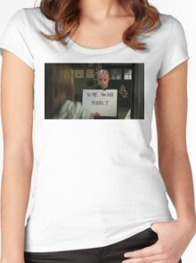 Jason Vorhees in Love Actually Women's Fitted Scoop T-Shirt