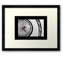 Vintage Wrought Iron Table Clock Detail Framed Print