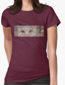 Snow Leopard night Womens Fitted T-Shirt