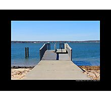 Shinnecock Bay Small Pier - Hampton Bays, New York Photographic Print