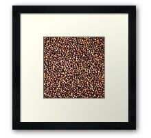 Black Pepper Framed Print