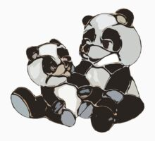 Mother with baby panda Kids Clothes