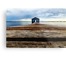 Lowdown on the Boatshed Metal Print