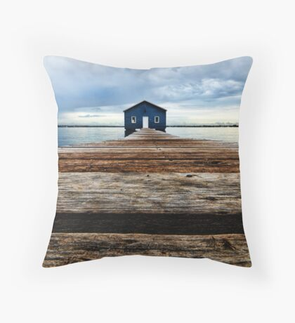 Lowdown on the Boatshed Throw Pillow