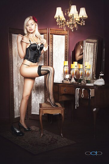 Jenni C in the Boudoir by Swede
