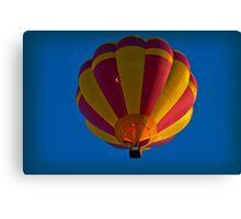 Hot air balloon overhead Canvas Print