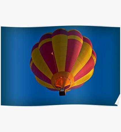 Hot air balloon overhead Poster