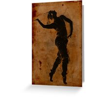 Dancing in Greek Greeting Card