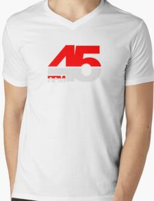 45 RPM - DJ Music Vinyl Mens V-Neck T-Shirt