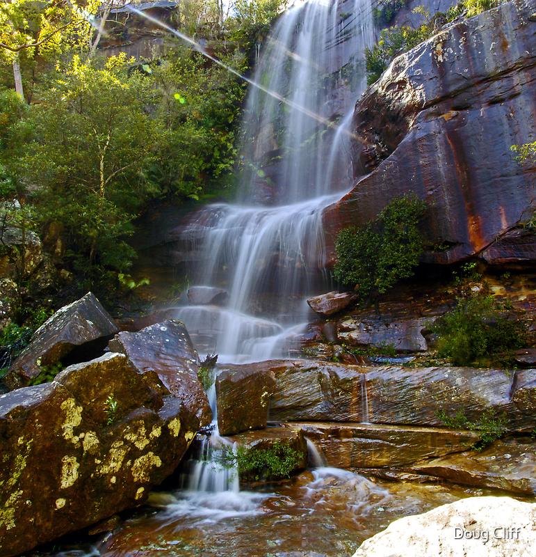 America Bay falls West Head NSW by Doug Cliff