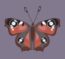 Butterfly Vinyl - Music Insect Kids Tee