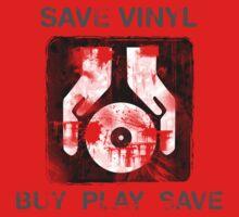 Save Vinyl - Record DJ Music One Piece - Short Sleeve