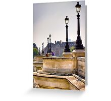 Chilling to music on the Ponte Neuf in Paris Greeting Card