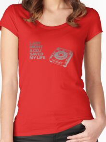 Last Night A CDJ Saved My Life Women's Fitted Scoop T-Shirt