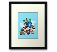 Doctor Who Series 7 Design Framed Print
