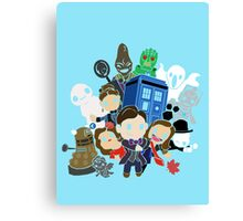 Doctor Who Series 7 Design Canvas Print