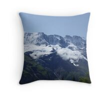 Snowy Alps Throw Pillow