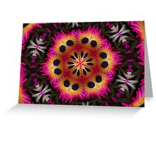 Love Livingstone daisies Mandala. Greeting Card