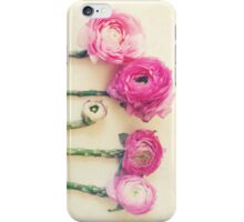 Asparagus and Pink Flowers iPhone Case/Skin