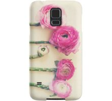 Asparagus and Pink Flowers Samsung Galaxy Case/Skin