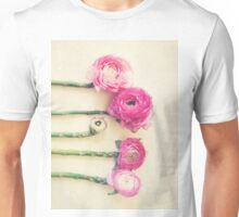 Asparagus and Pink Flowers Unisex T-Shirt