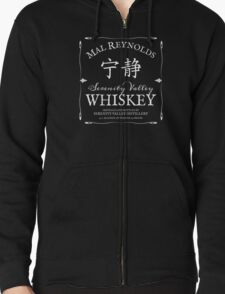 Mal Reynolds Serenity Valley Whiskey Zipped Hoodie