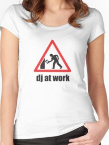 DJ At Work Women's Fitted Scoop T-Shirt