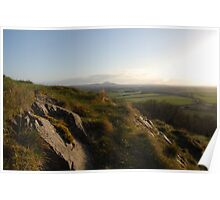 The Wrekin from Lilleshal Monument. Poster