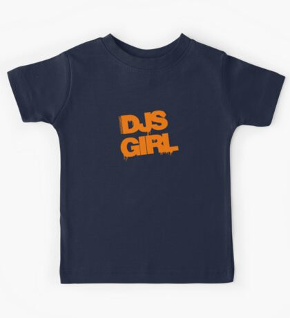 DJs Girl Orange Kids Tee