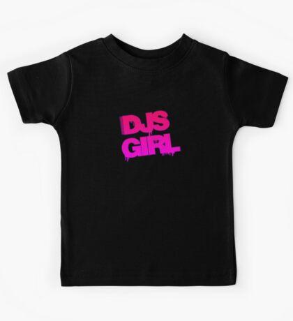 Djs Girl Pink Kids Tee