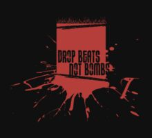 Drop Beats Not Bombs Graffiti One Piece - Short Sleeve