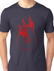 Flaming Vinyl Unisex T-Shirt